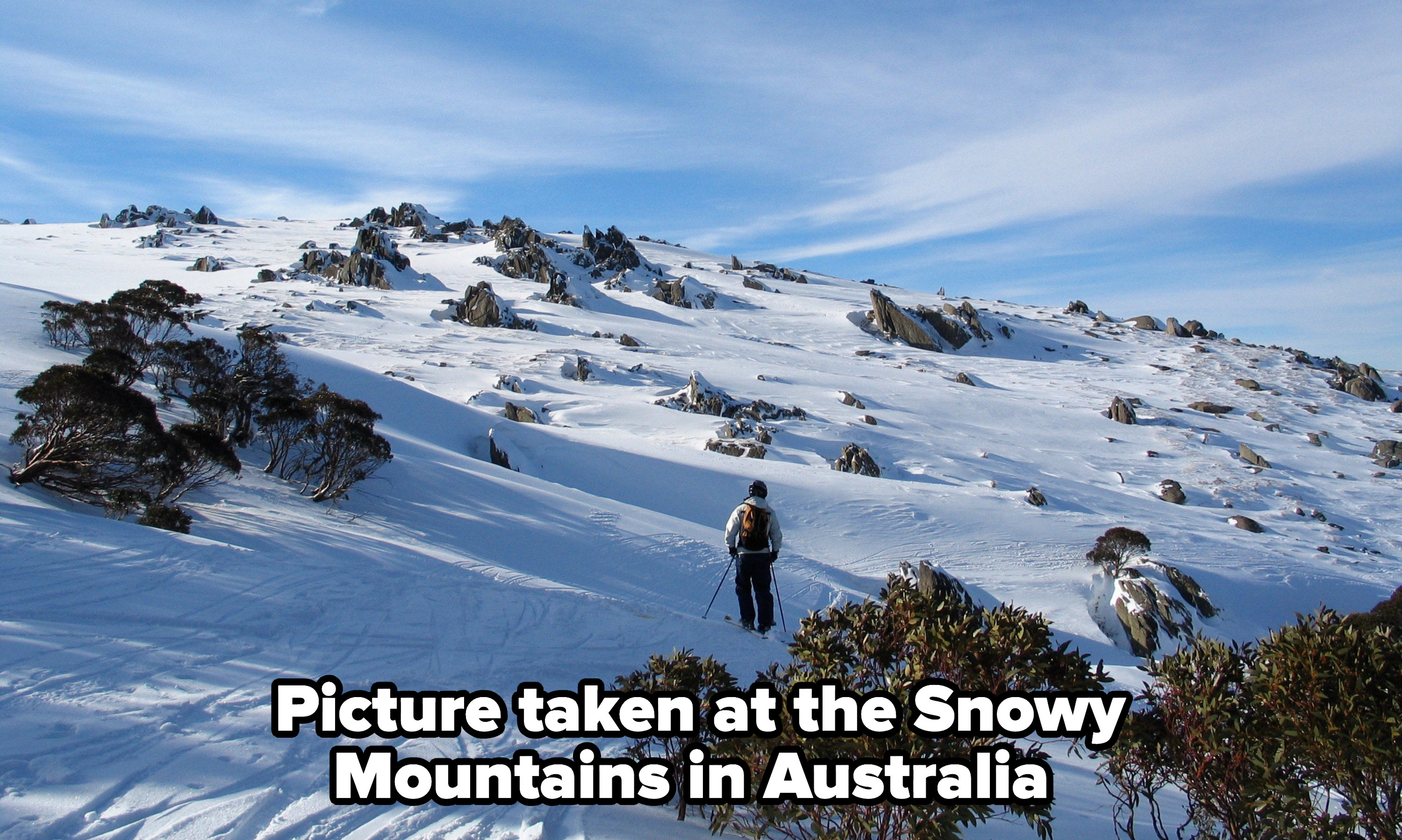 A picture of the Snowy Mountains in Australia