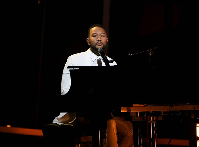 John Legend performs onstage at the 2020 Billboard Music Awards