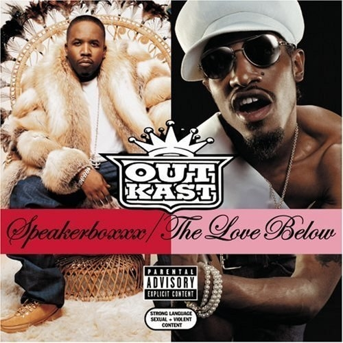 album cover of Speakerboxxx/The Love Below showing Andre 3000 and Big Boi