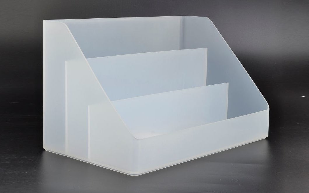 Product with three sturdy compartments