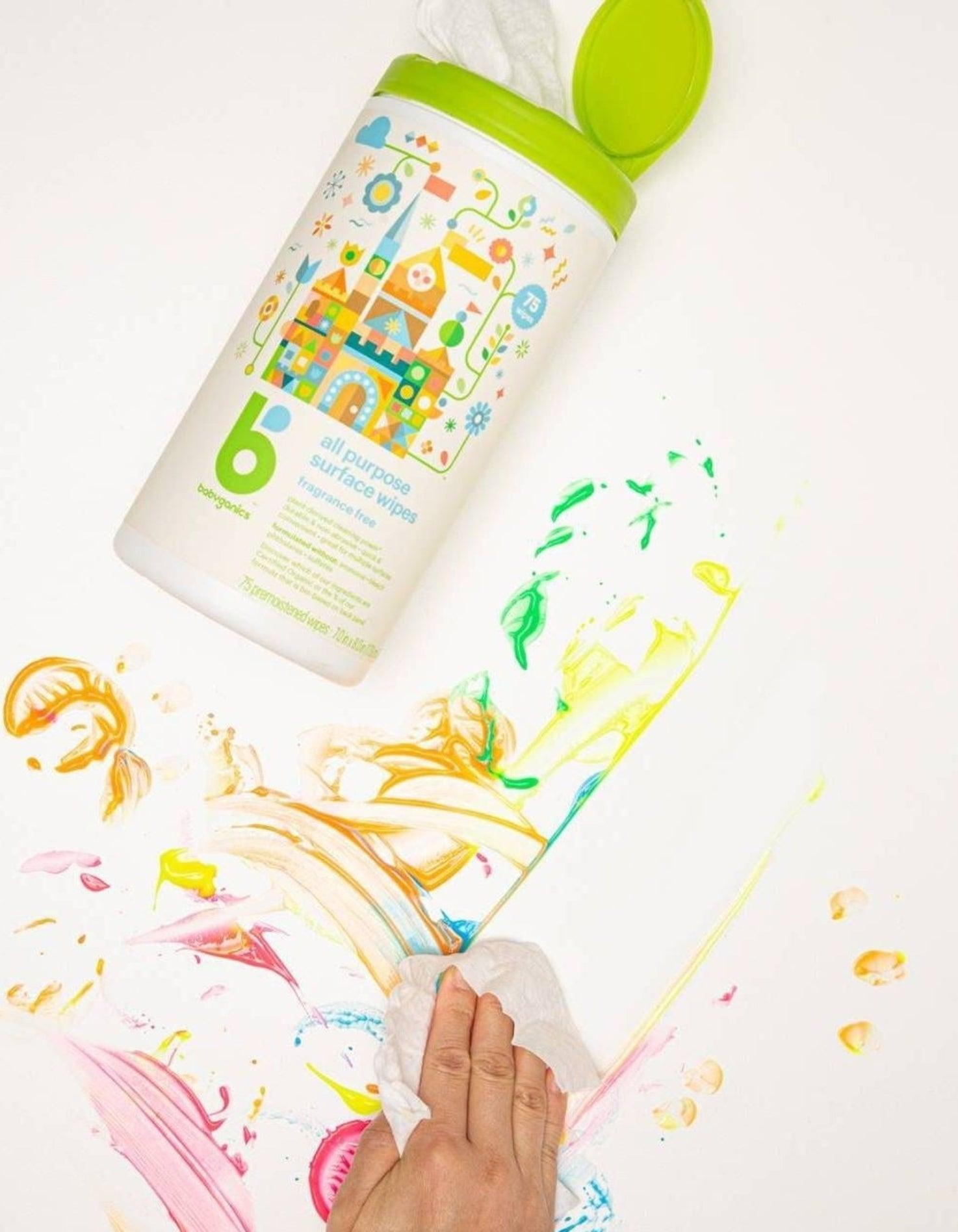 Natural product wiping up mess
