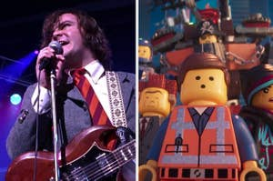 "Jack Black in ""School of Rock,"" ""The LEGO Movie 2"""