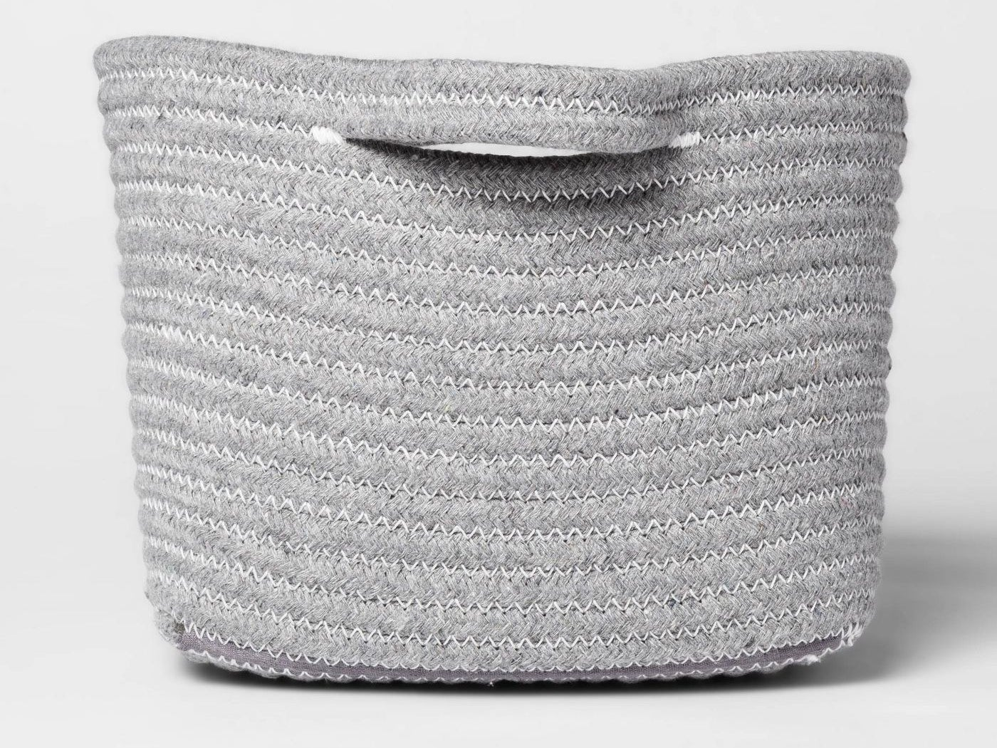 Gray basket with handles