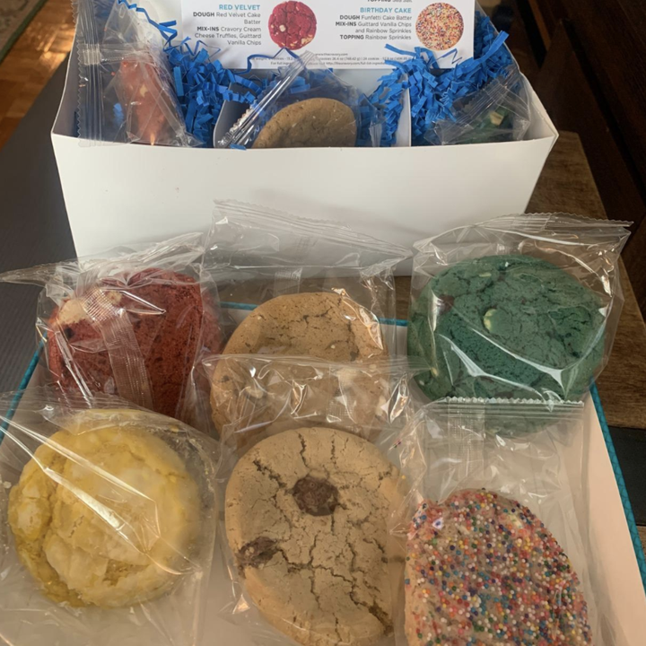 reviewer photo of six different cookies