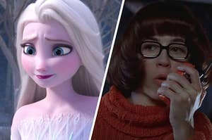 """Elsa from """"Frozen"""" and Velma from """"Scooby-Doo"""""""