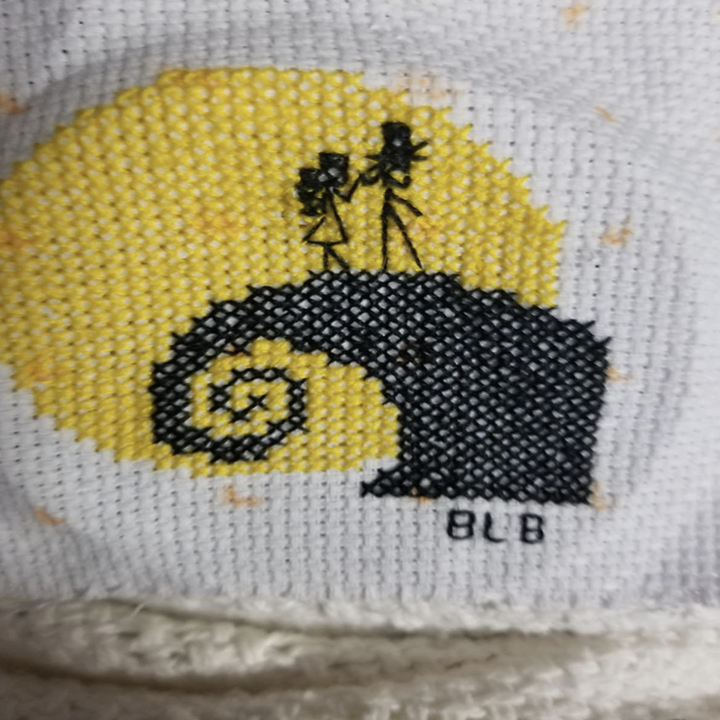 reviewer photo of finished cross stitch