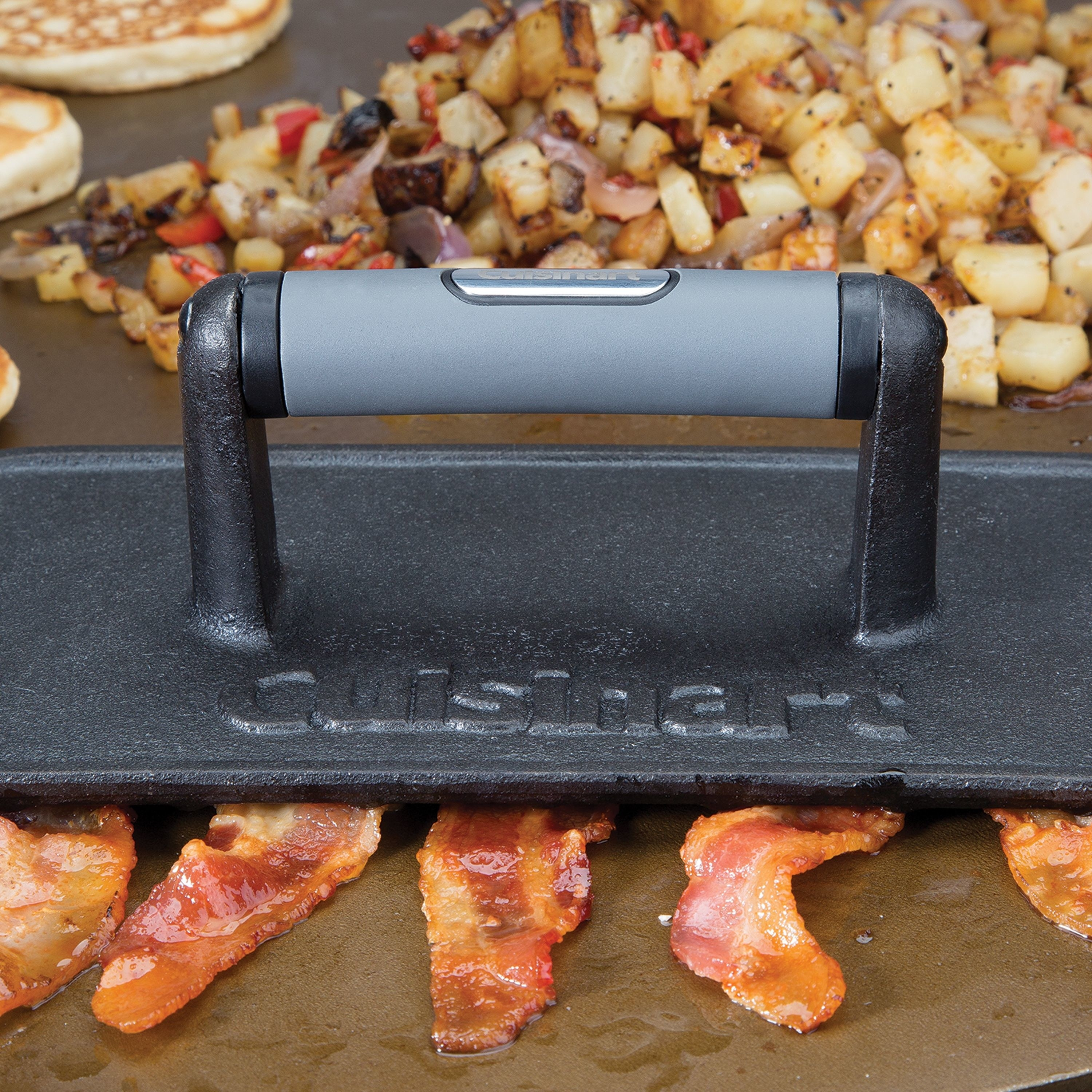The cast iron grill press