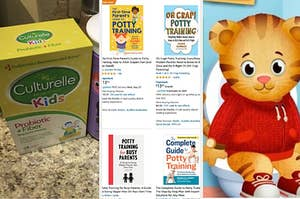 Toddler probiotics, potty training books, and Daniel Tiger