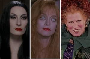 """Morticia from """"The Addams Family"""", Helen from """"Death Becomes Her"""", and Winnie from """"Hocus Pocus."""""""