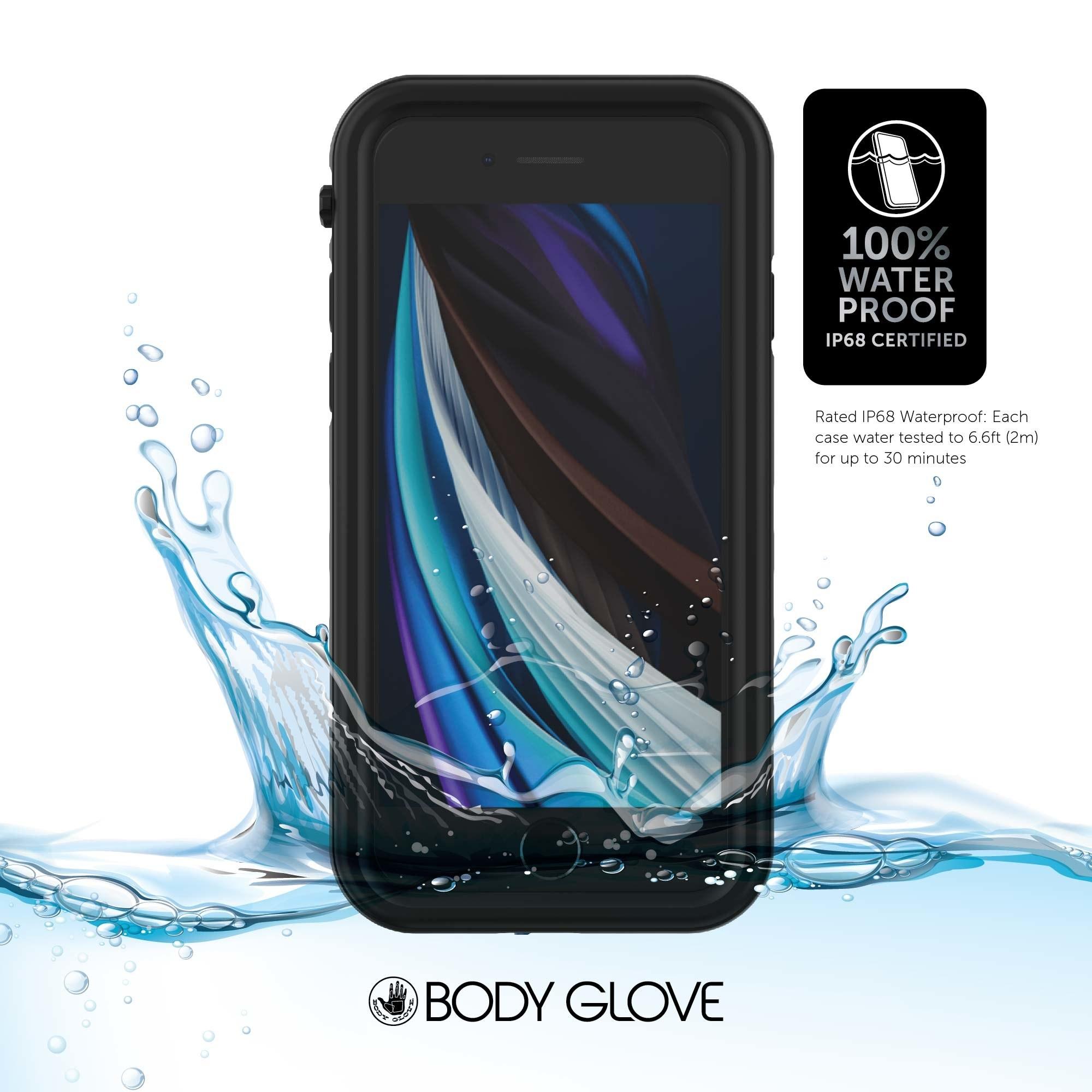 The black waterproof phone case