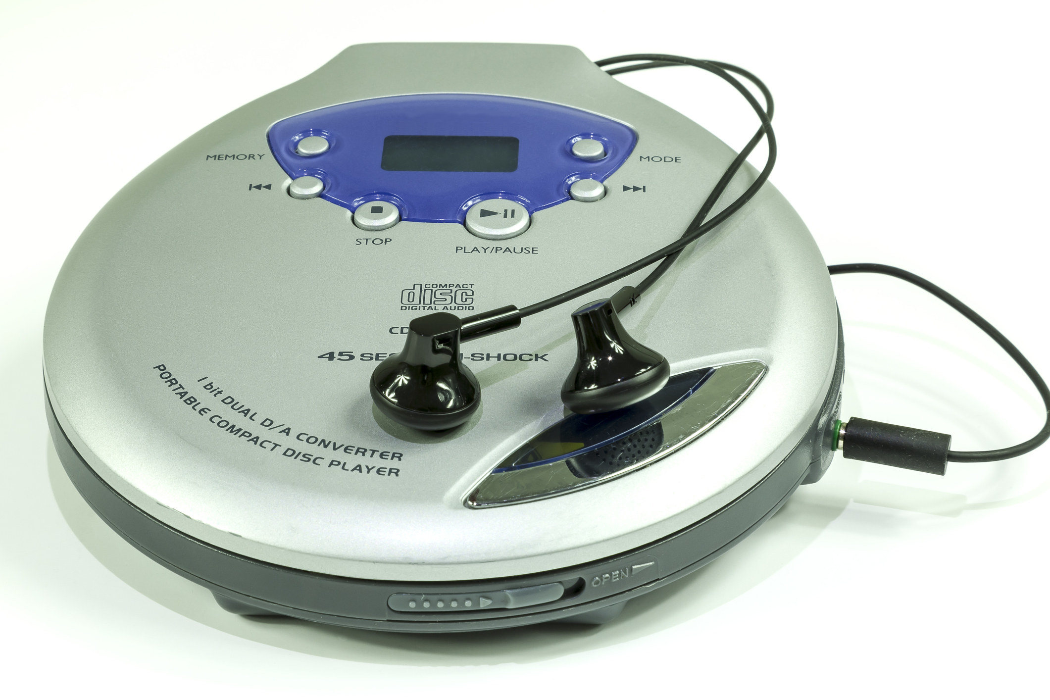 A stock image of a late '90s portable CD player