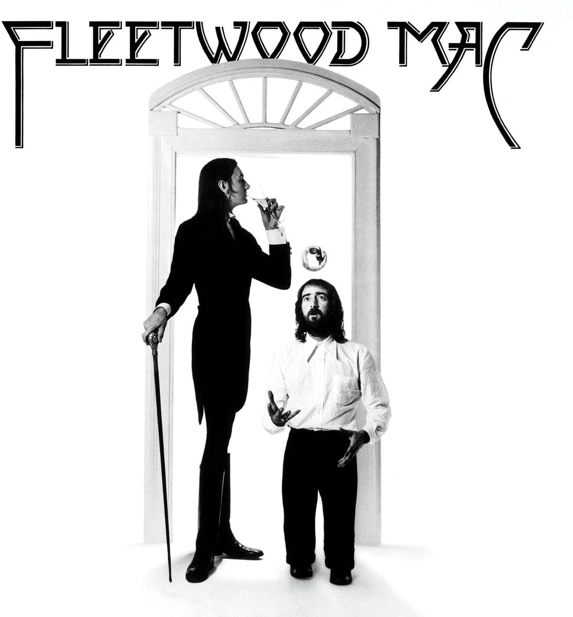 album cover of Fleetwood Mac showing a tall and short man standing in a doorframe