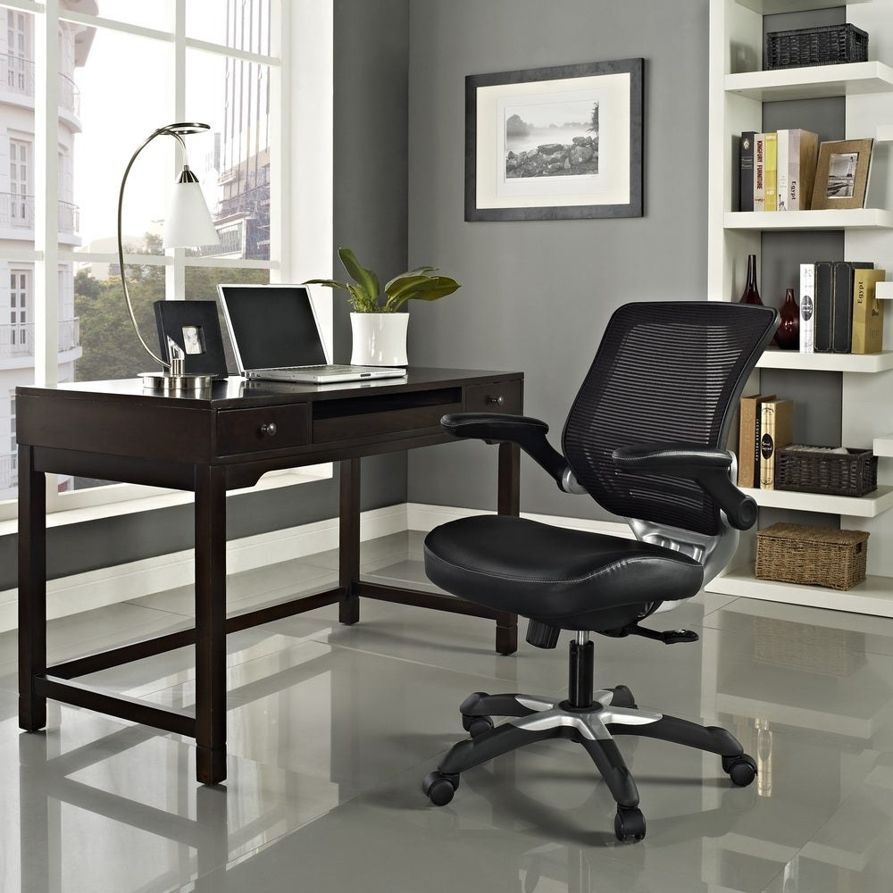 An ergonomic chair in a home office