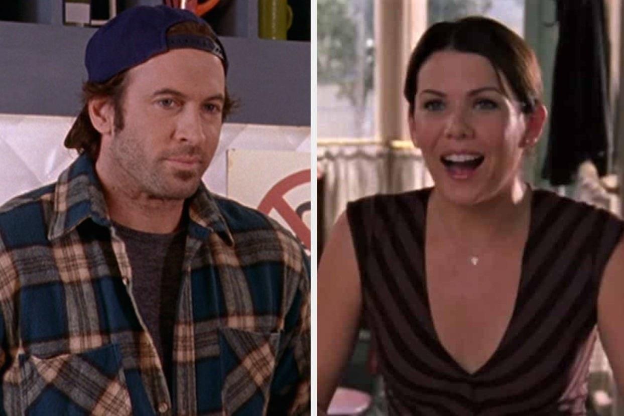 "Lorelai and Luke from ""Gilmore Girls"""