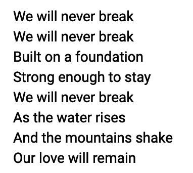 Never Break lyrics