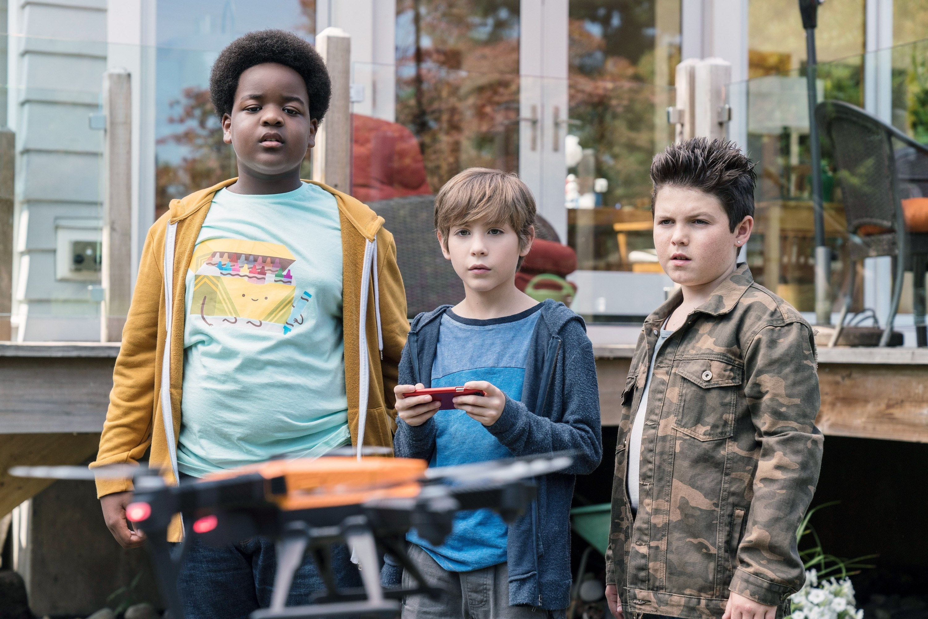 "Keith L Williams, Jacob Tremblay, and Brady Noon in ""Good Boys"""