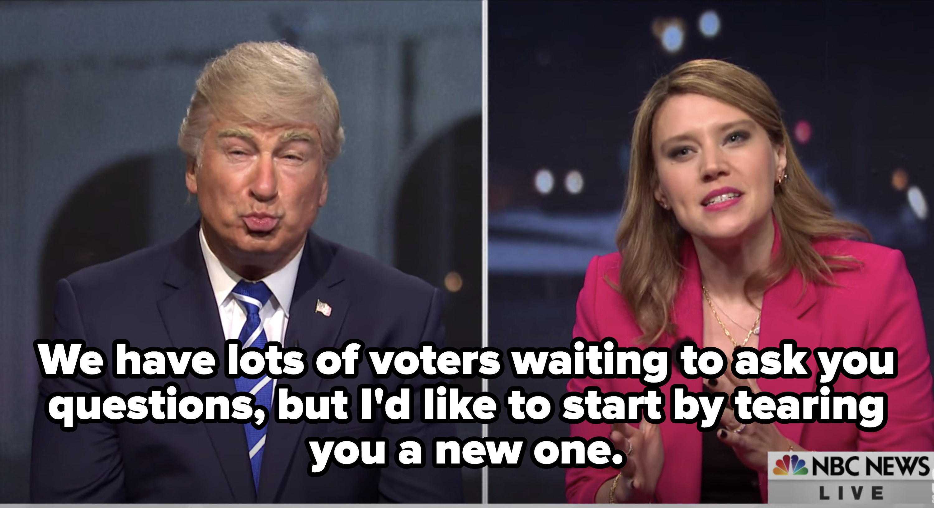 """Savannah saying, """"We have lots of voters waiting to ask you questions, but I'd like to start by tearing you a new one."""""""
