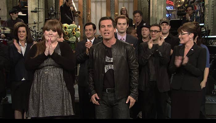 "Adele and Josh Brolin on ""SNL"" in 2008"