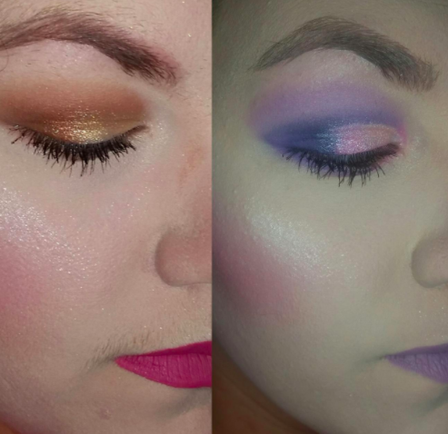 reviewer photo showing before and after using the touch-up tool to remove upper-lip hair