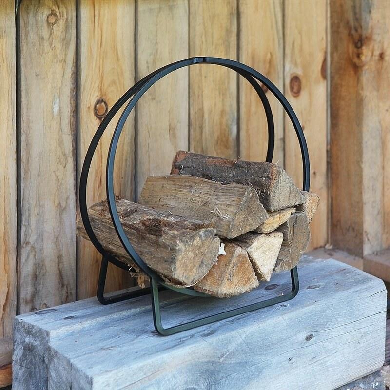 Black iron wood hoop