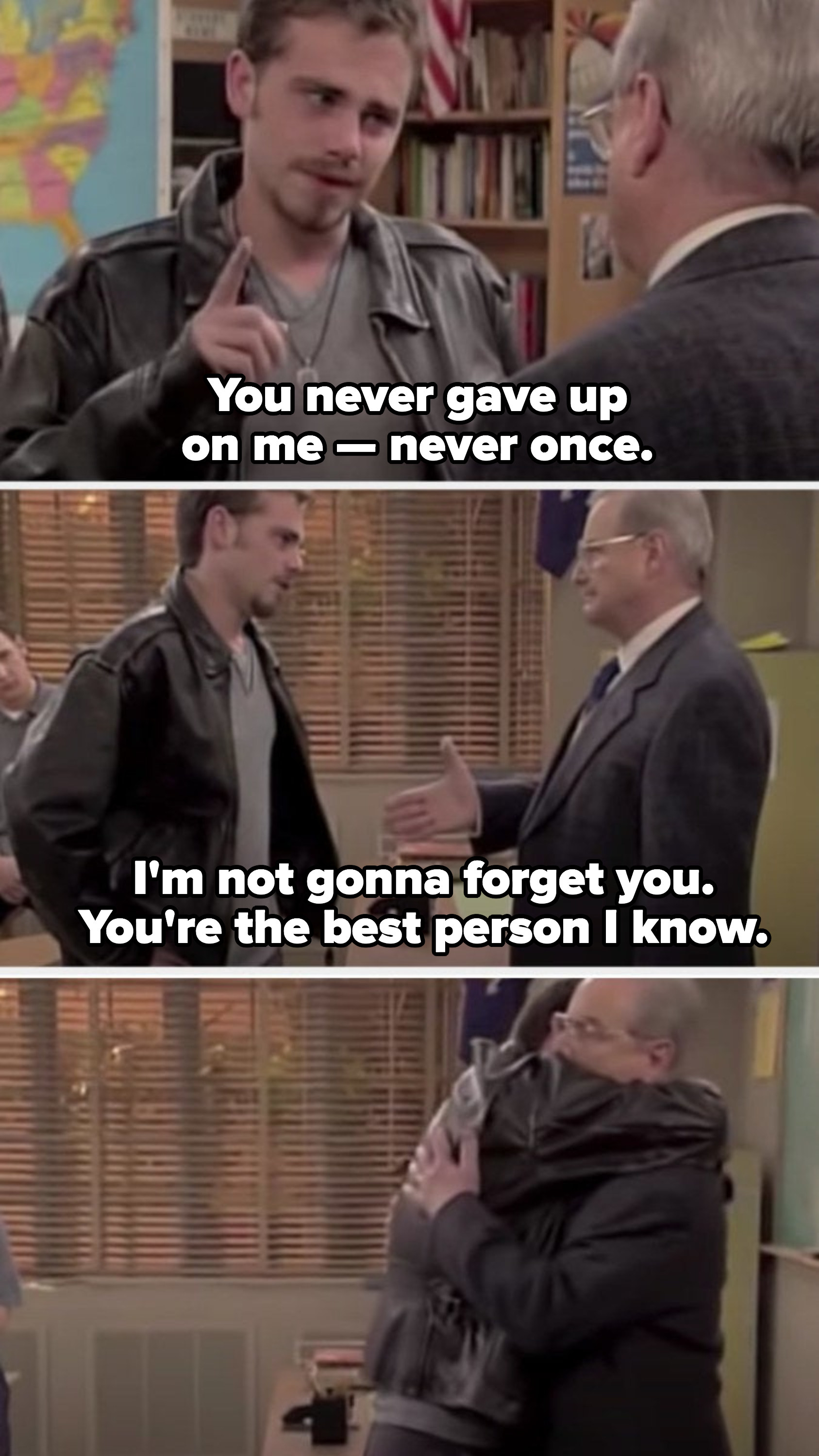 Shawn saying goodbye to Mr. Feeny, letting him know how much he loves him
