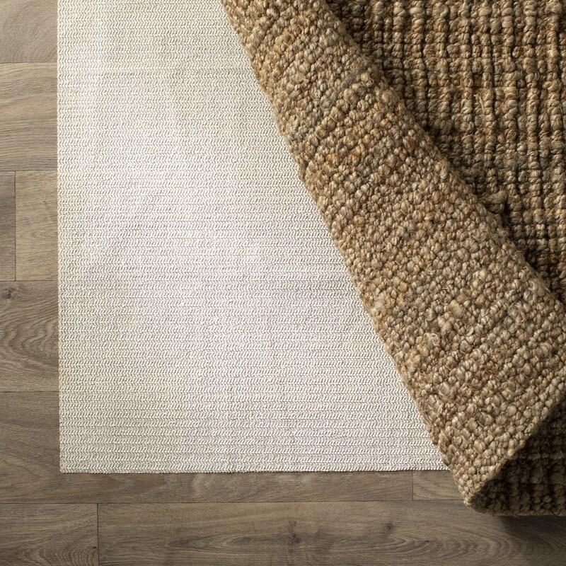 Cream colored rug pad