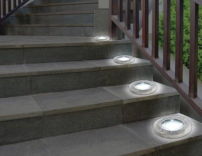 Gunmetal gray LED pathway lights