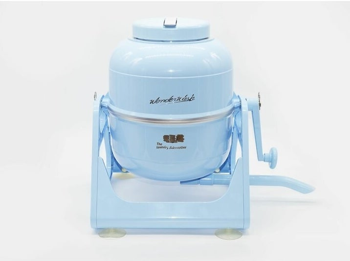 Blue portable washer