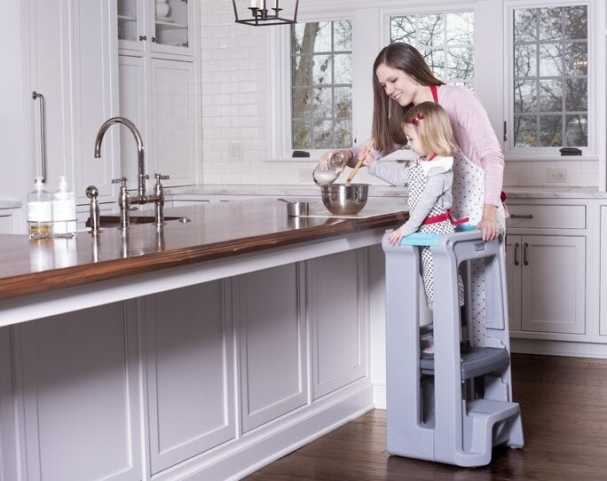 Models use the gray toddler tower