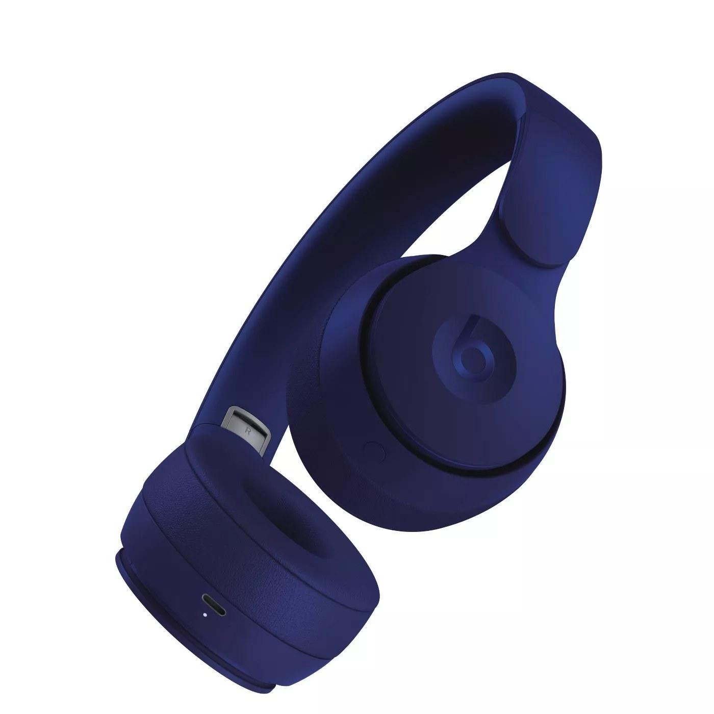 The headphones in navy