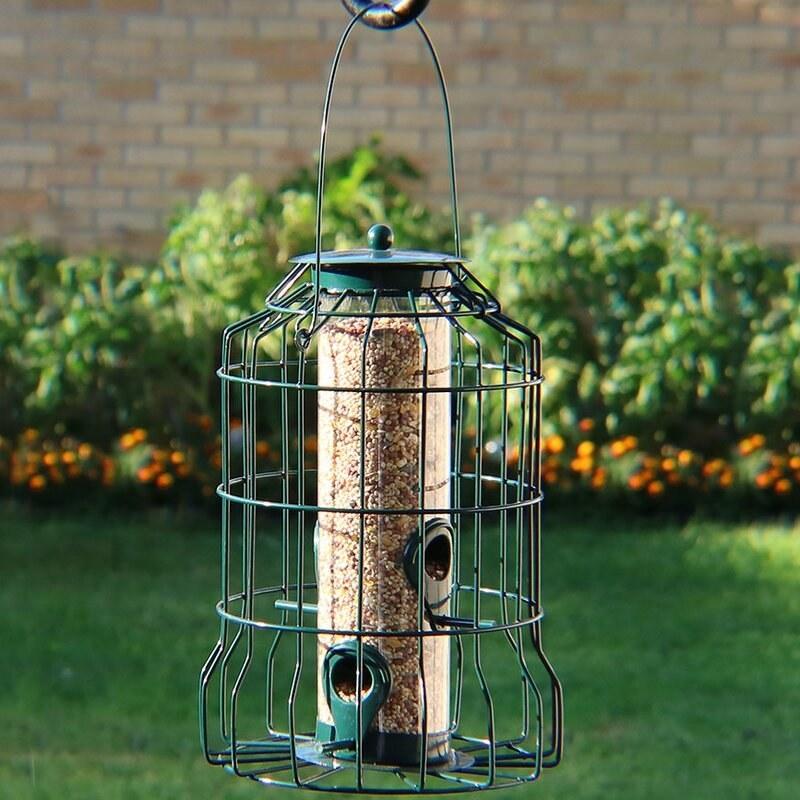 Green bird feeder