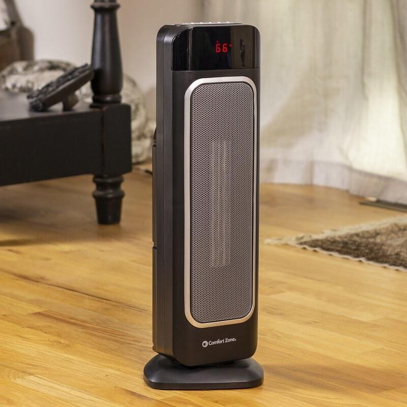 Black electric heater