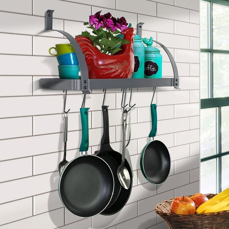 Gray pot rack