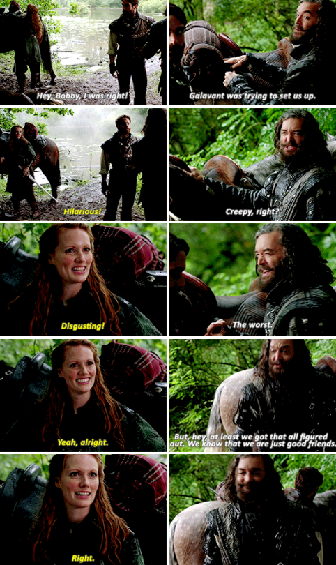 King Richard trying to be friends with Roberta in the woods