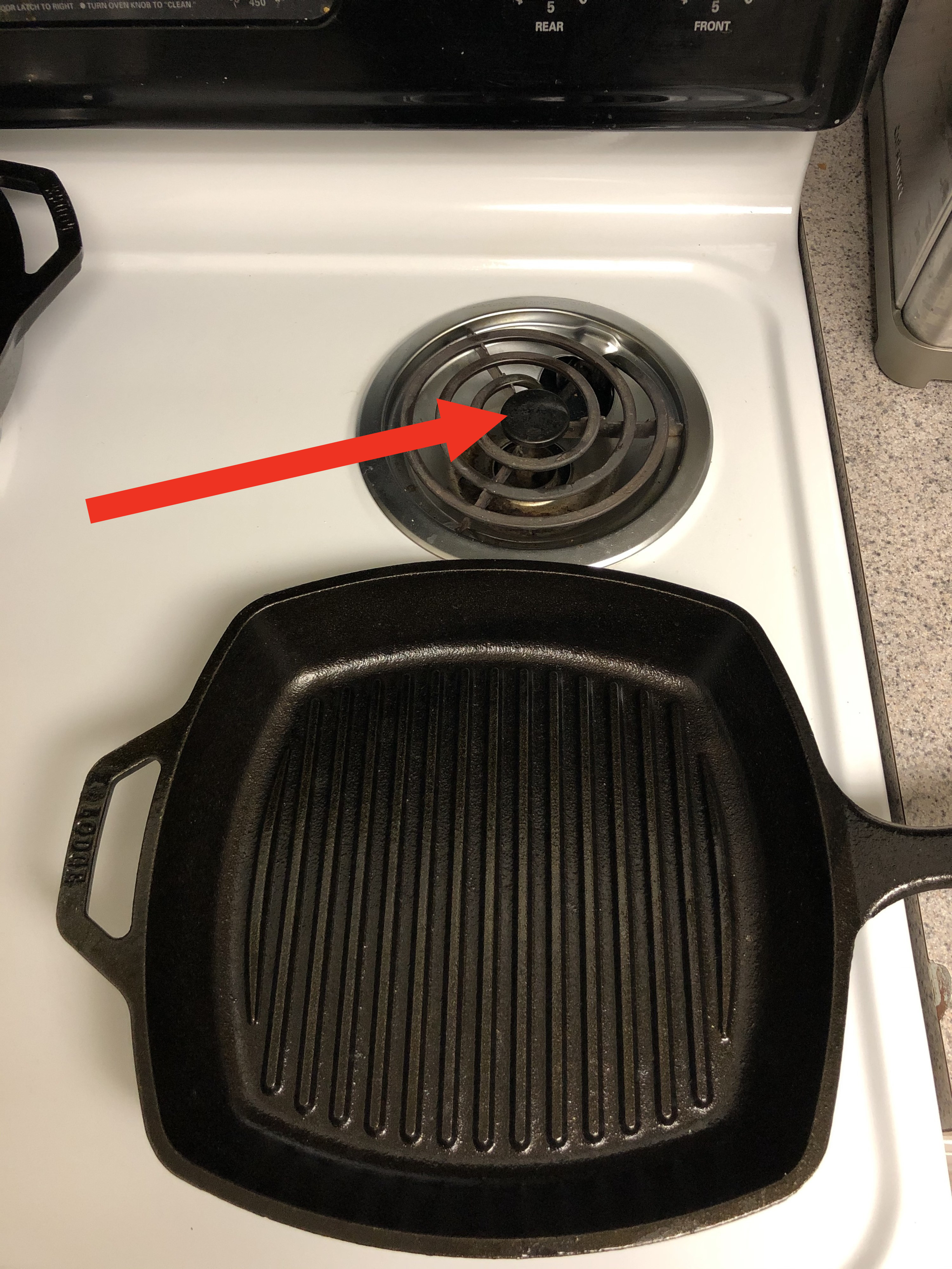 An electric stovetop