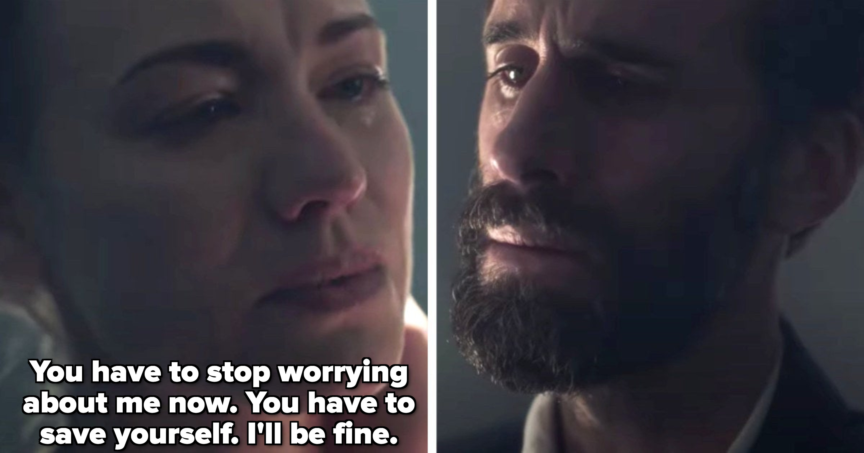 Serena telling Fred to stop worrying about her because she'll be fine