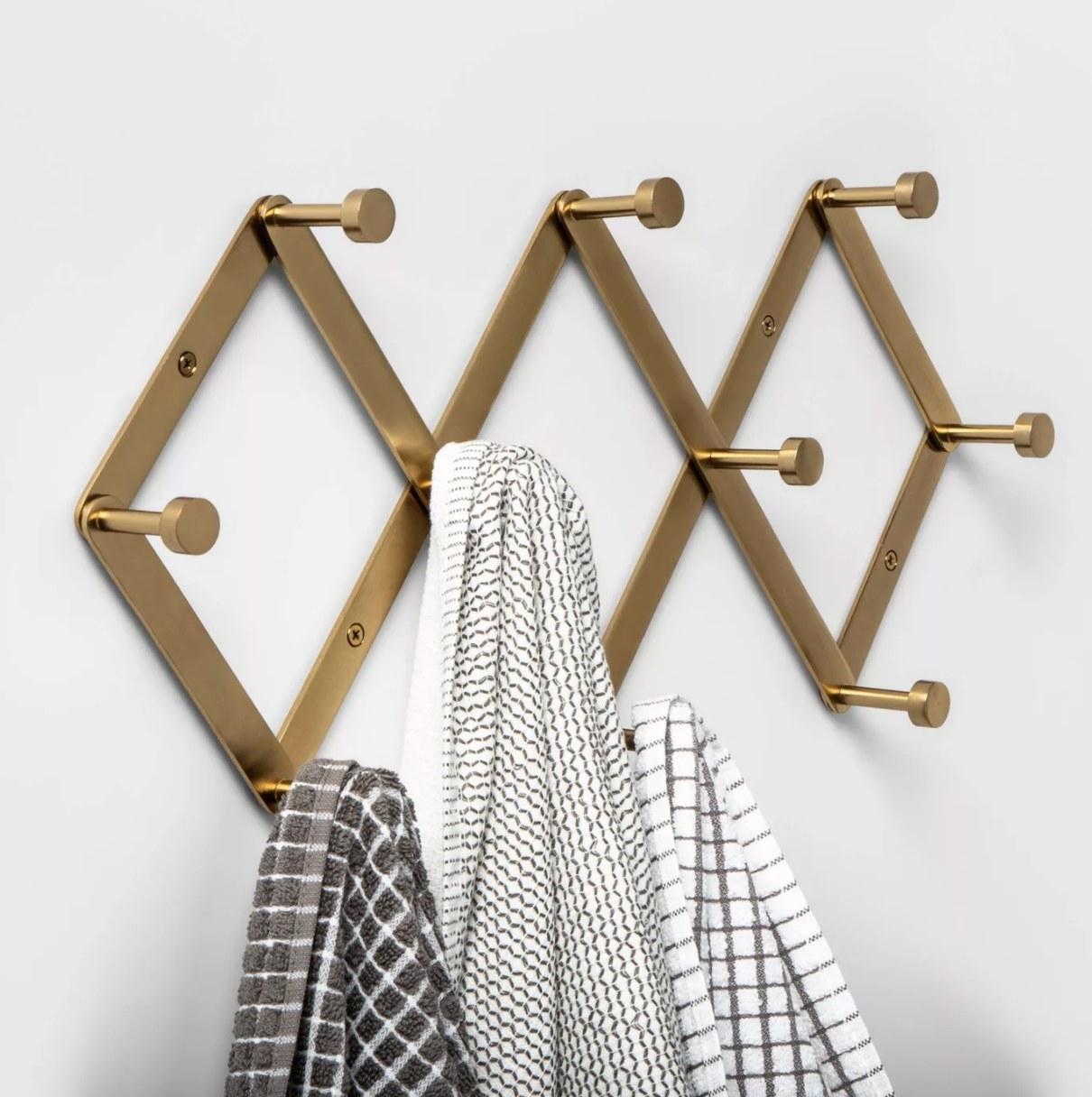 The brass hook rack