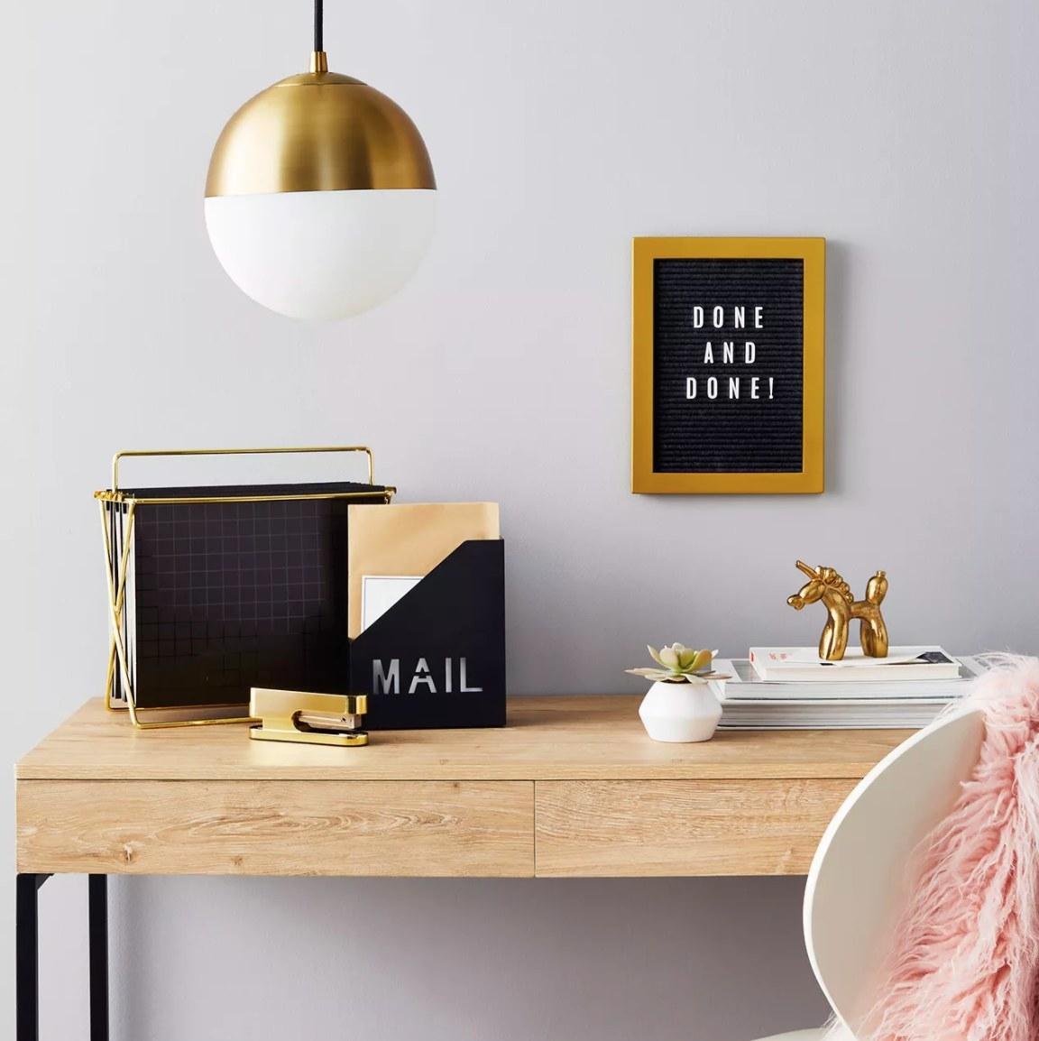 The black mail holder
