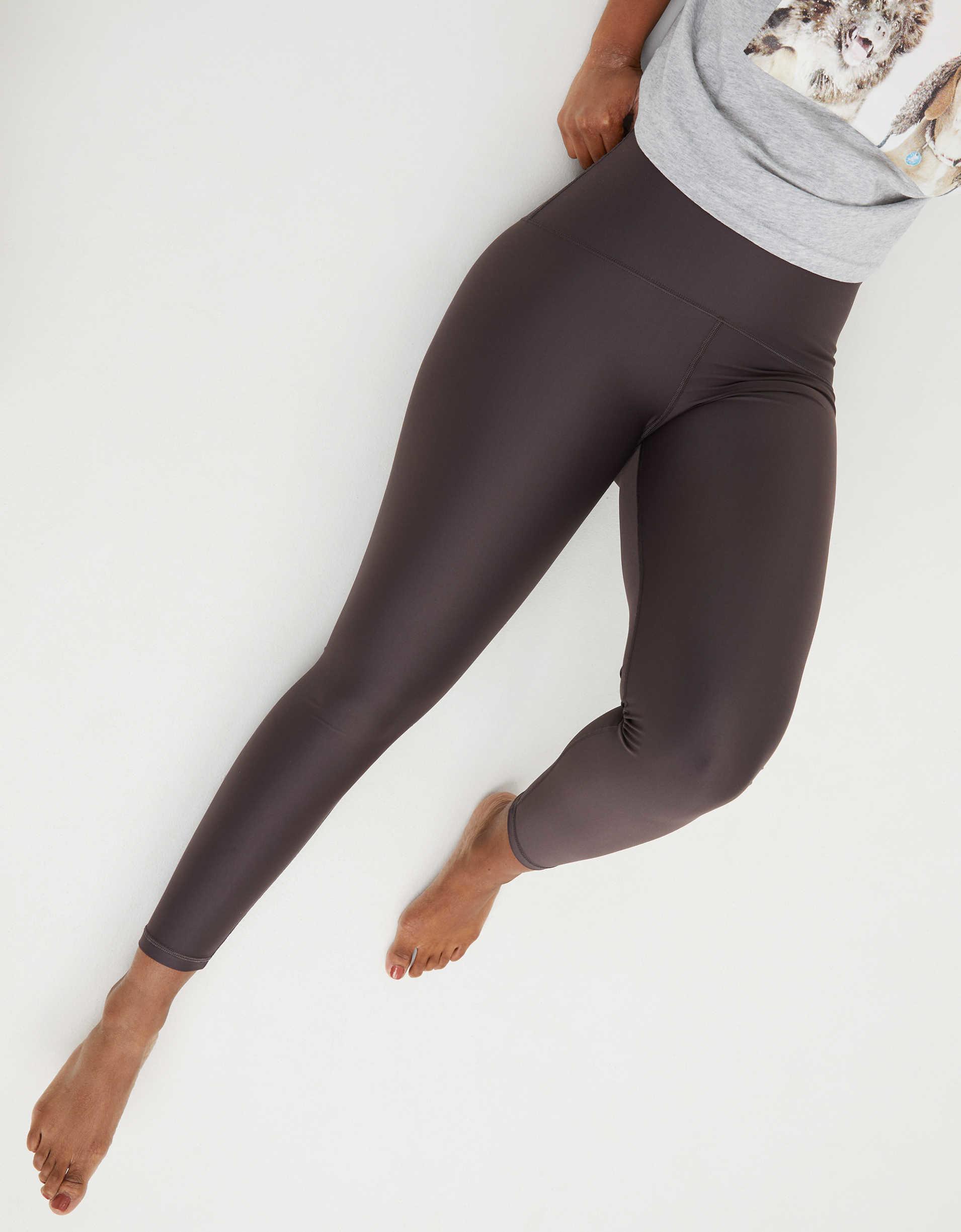 The full-length high waisted leggings in grey