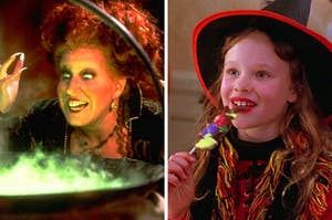 Winifred Sanderson and Dani from Hocus Pocus