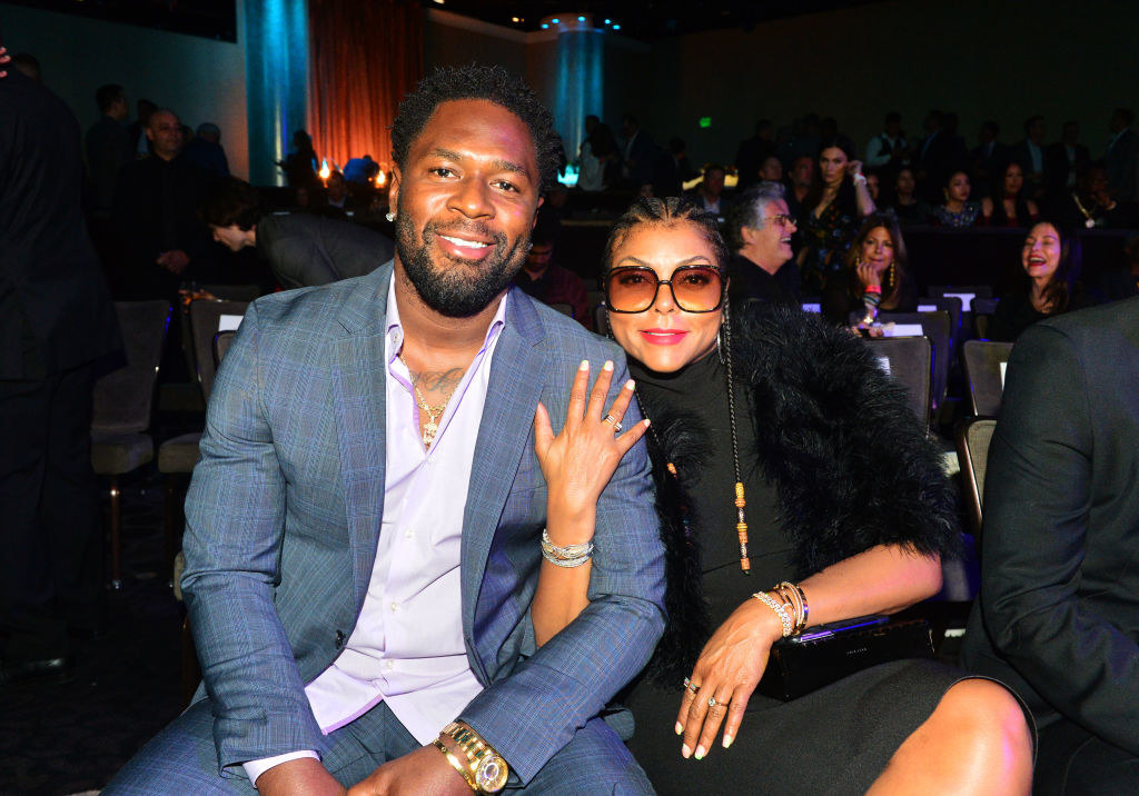 Kelvin Hayden (L) and Taraji P. Henson attend Sugar Ray Leonard Foundation's 10th Annual 'Big Fighters, Big Cause' Charity Boxing Night