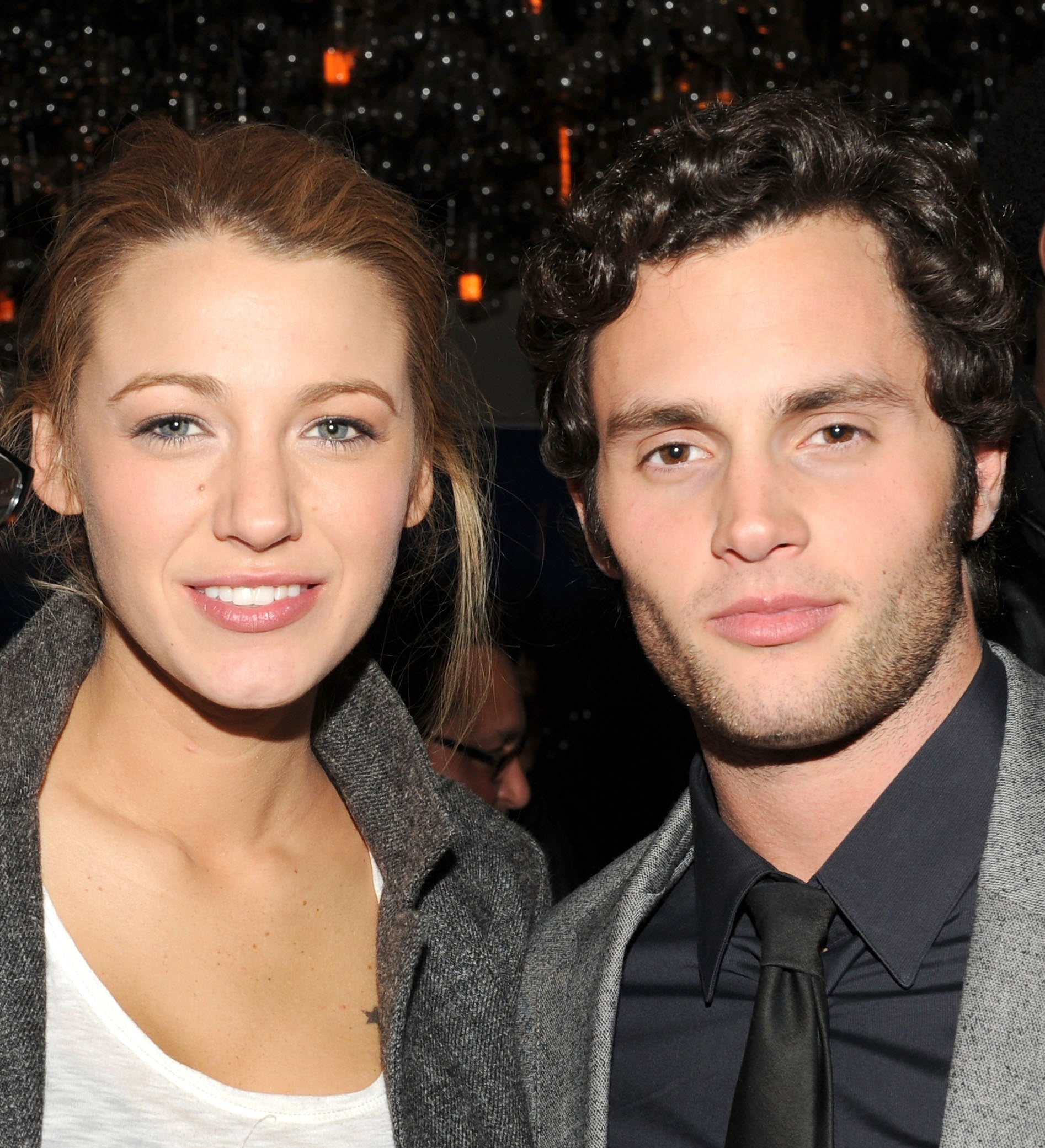 A photo of Blake Lively and Penn Badgley at event in 2010
