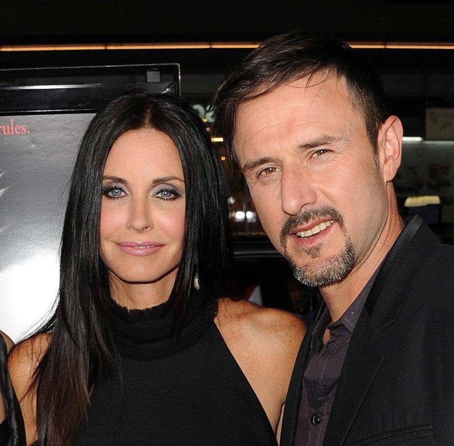 Courteney Cox and David Arquette at the premiere of Scream 4
