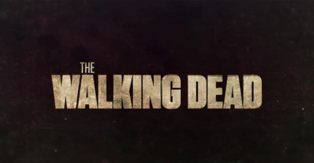 A screenshot of the logo for The Walking Dead taken from the intro