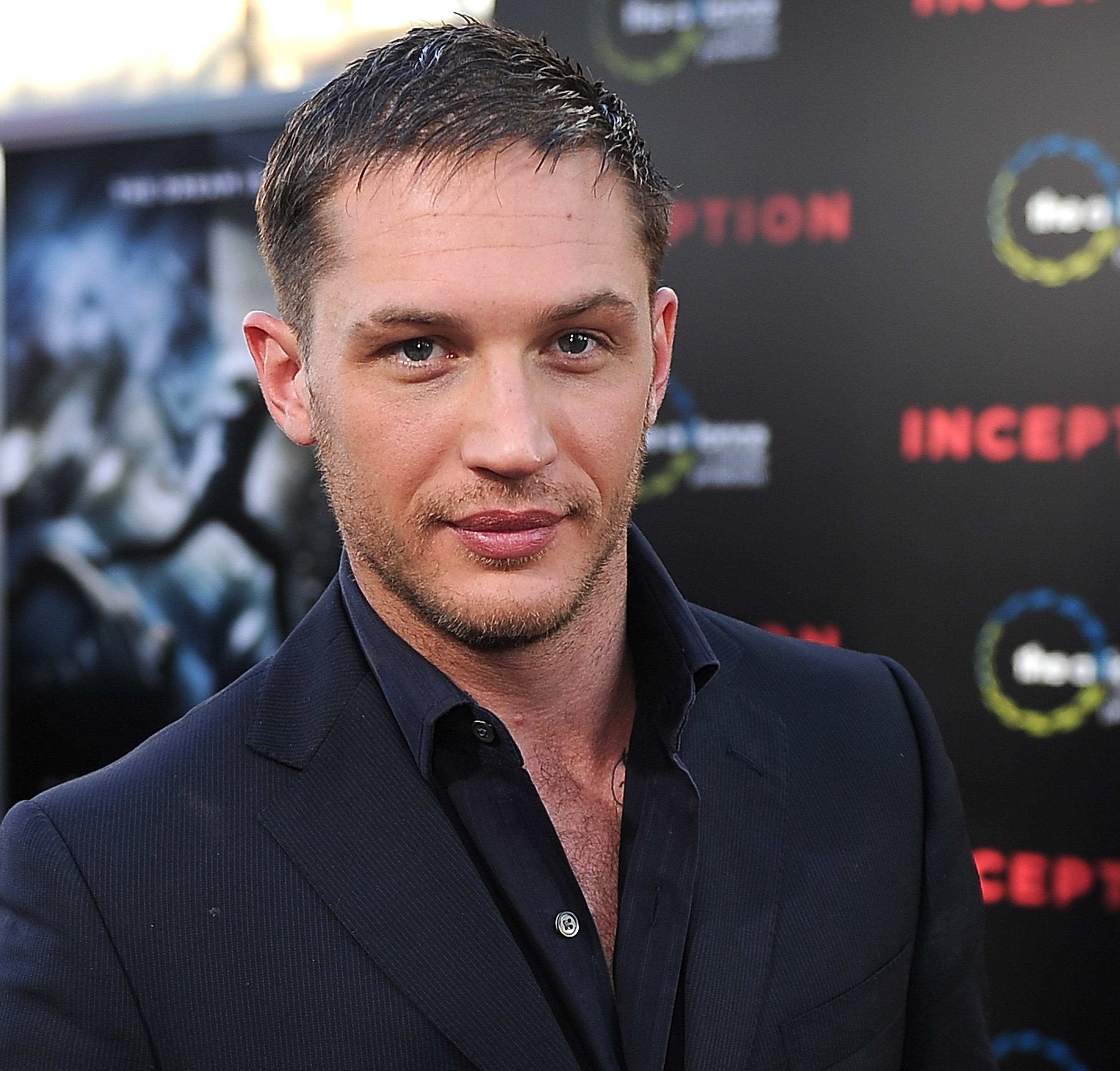 A photo of Tom Hardy at the premiere of Inception