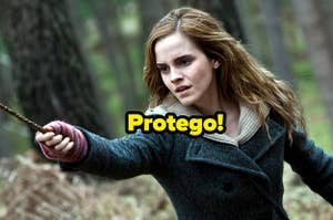 Hermione and the incantation Protego