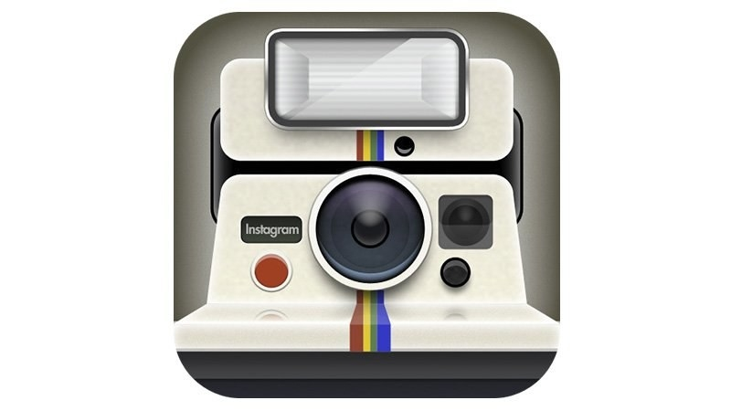 The original Instagram logo that looked like a Polaroid camera