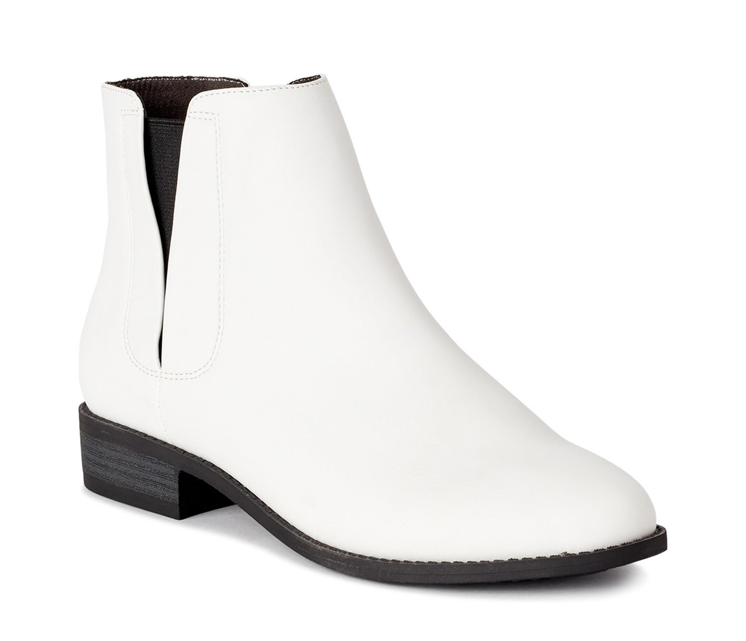 A white ankle boot