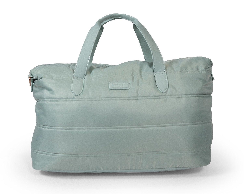 The mint green bag