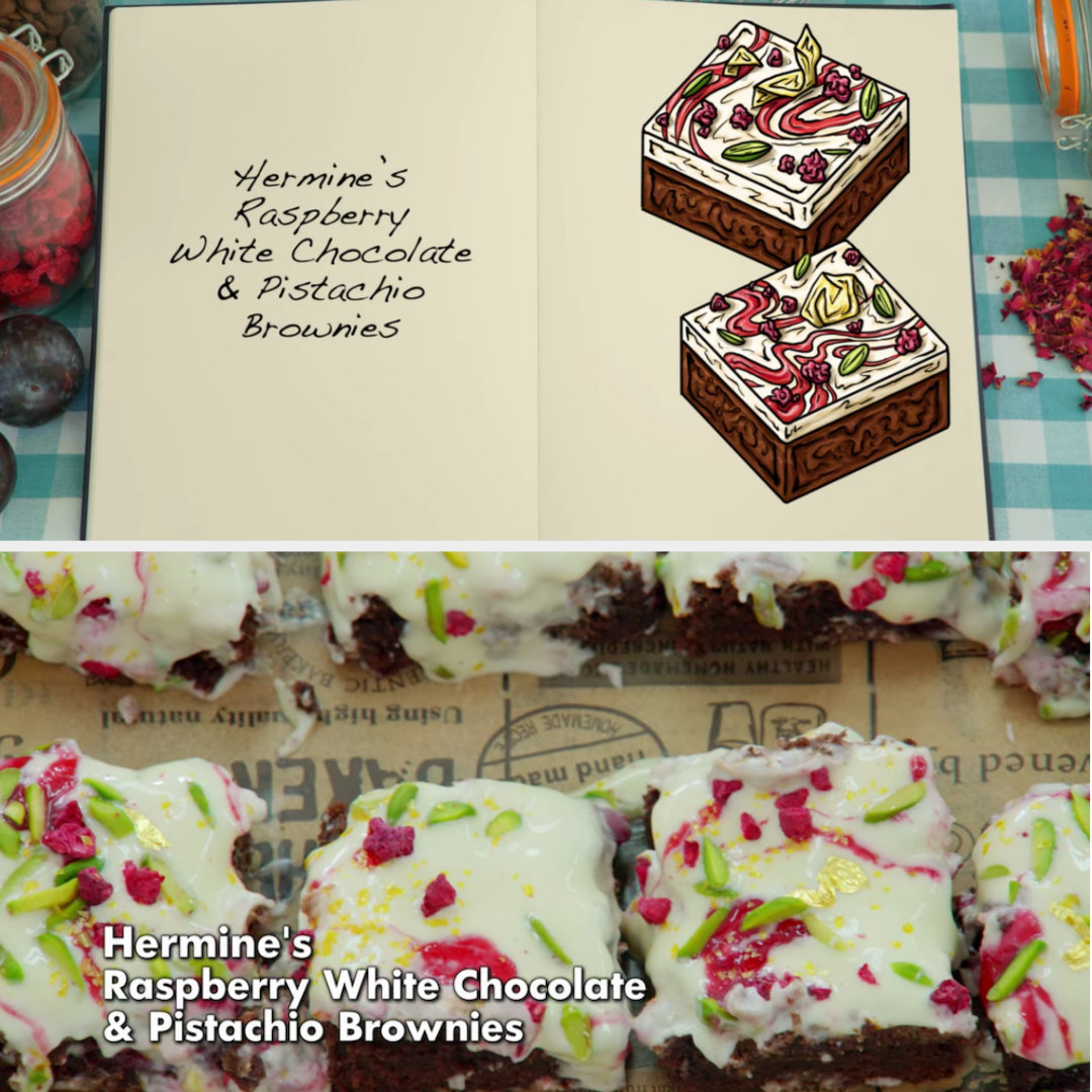 Hermine's brownie side-by-side with its drawing